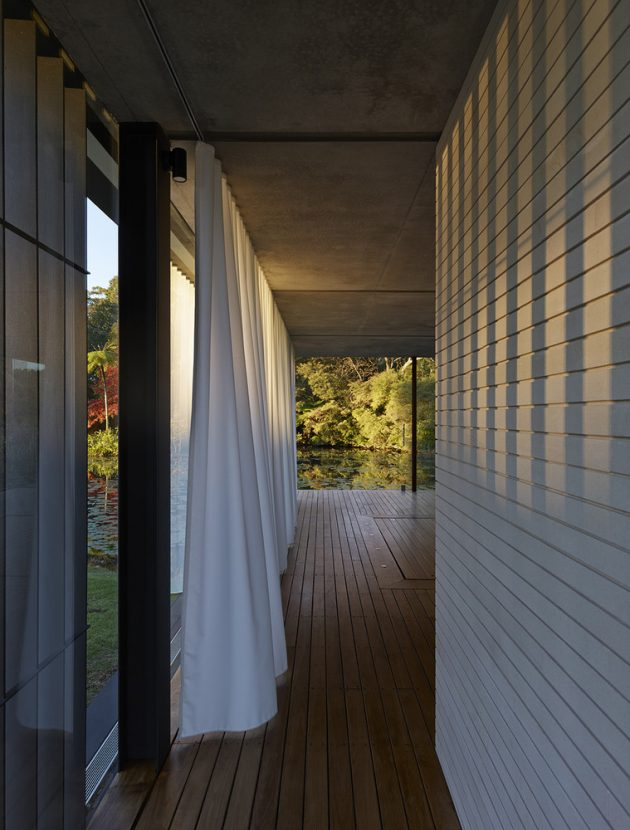 Wirra Willa Pavilion by Matthew Woodward Architecture in Somersby, Australia
