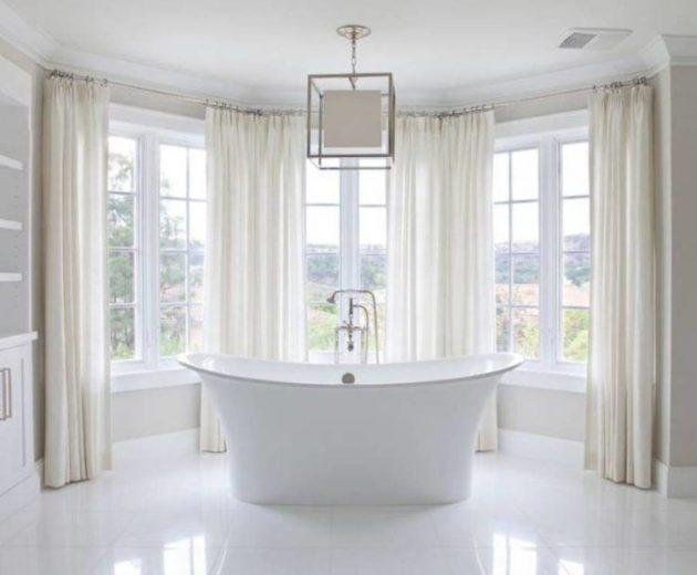 Bathroom Window Curtains, Bathroom Window Treatments Curtains