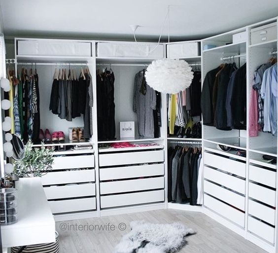 14 Inspirational Ideas For Decorating Perfect Walk-In Closet