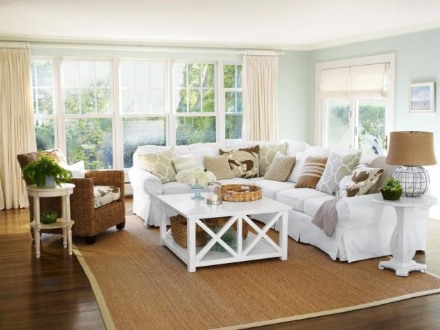 16 inspirational ideas for decorating beach themed living room - Small beach house decorating ideas ...