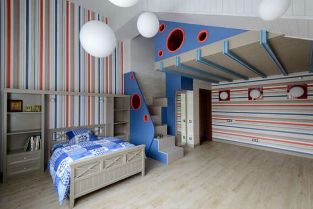Modern Playroom Living Room