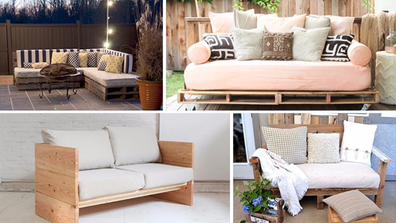 best sneakers 5d82a 019eb 15 Cool DIY Couch Ideas For Indoors And Outdoors