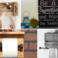 15 Impressive Handmade Pallet Wood Crafts For Your Bathroom