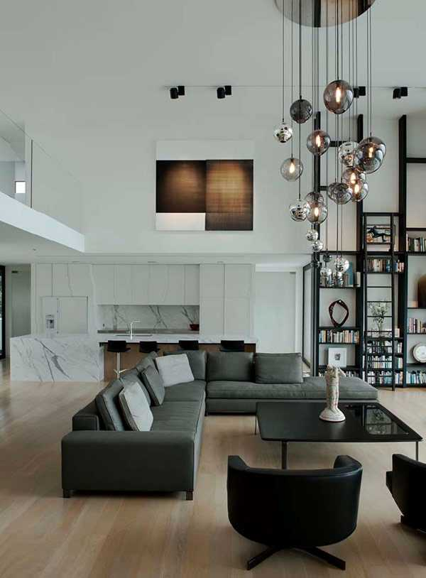 Decorating Living Room With High Ceiling
