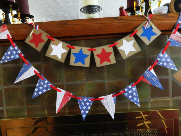 16 Festive Handmade 4th of July Garland Designs For Patriotic Decor