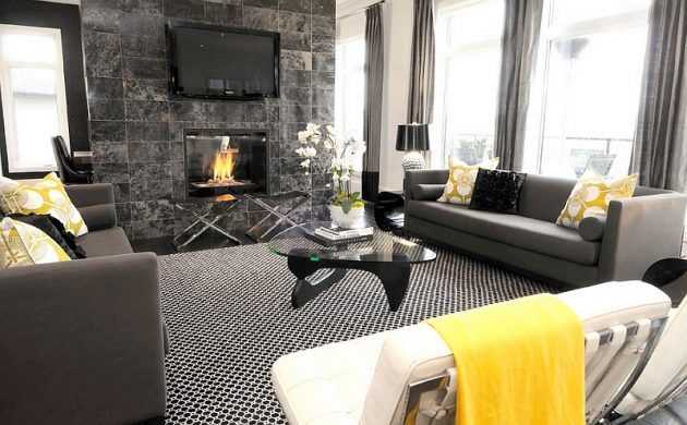 Wonderful 18 Excellent Black U0026 White Carpet Designs To Adorn Your Living Room