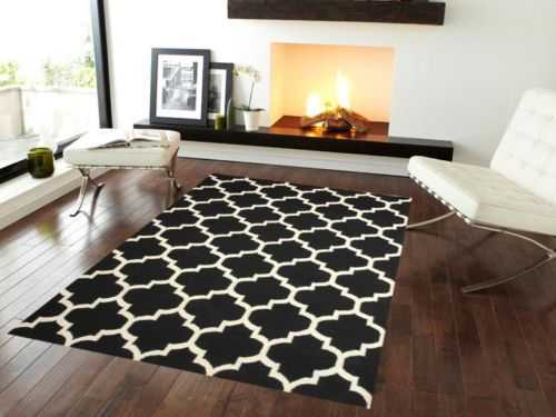 18 Excellent Black White Carpet Designs To Adorn Your Living Room