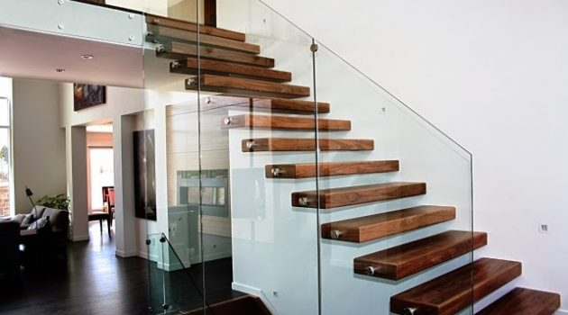 10 Fascinating Wood & Glass Staircase Designs For Elegant Home