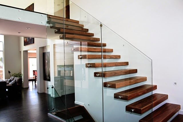 10 Fascinating Wood Glass Staircase Designs For Elegant Home