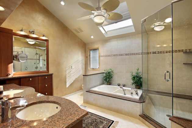 17 Outstanding Ideas For Decorating Bathroom With Skylight