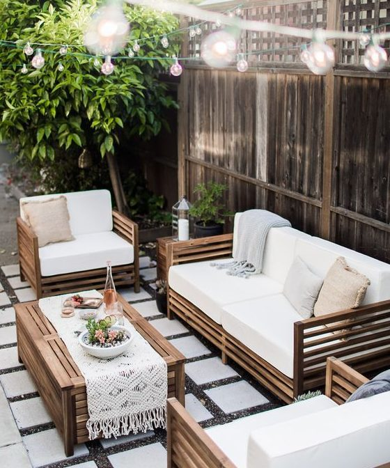 19 irresistible outdoor living spaces that will leave you for Backyard furniture ideas