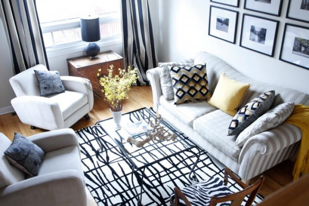 18 Excellent Black & White Carpet Designs To Adorn Your Living Room