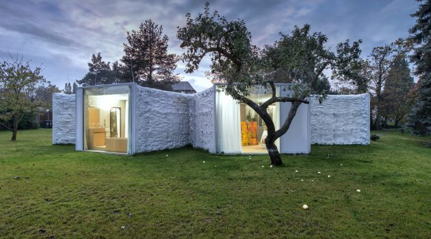 Chameleon House by Petr Hajek Architekti in Prague, Czech Republic