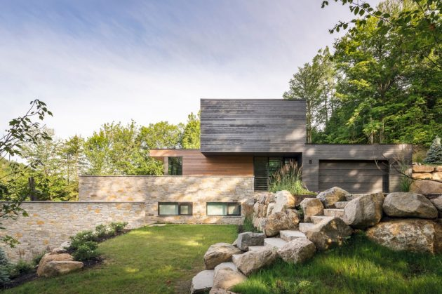 Estrade Residence by MU Architecture in Quebec, Canada