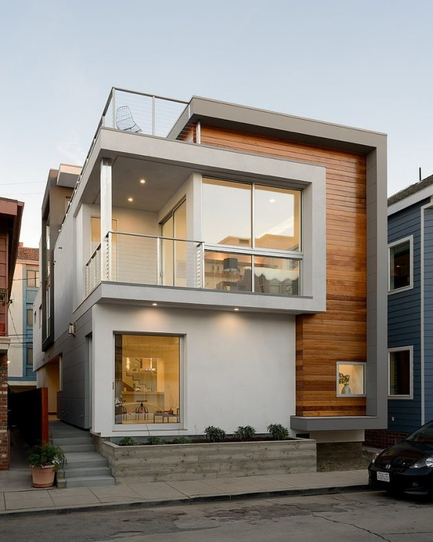 Peninsula House by LeMaster Architects in Long Beach, California