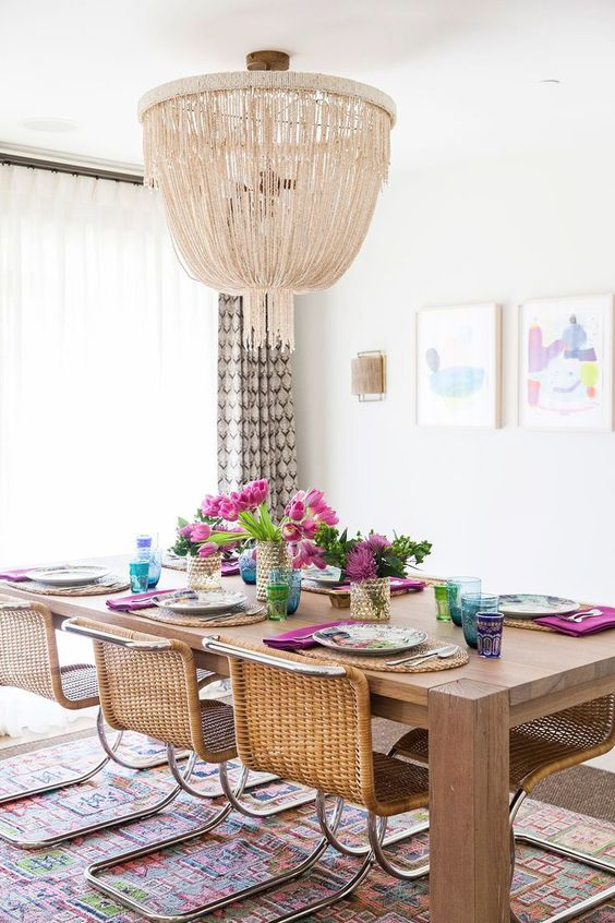 Boho Style Dining Room A Real Hit This Summer