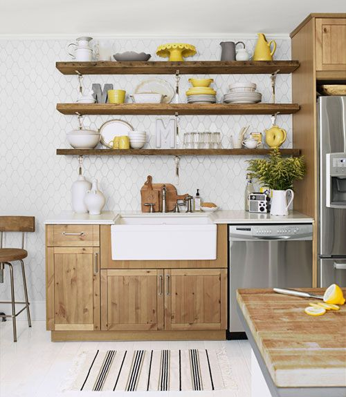 Trendy Kitchen Designs With Open Shelves That Will Delight You