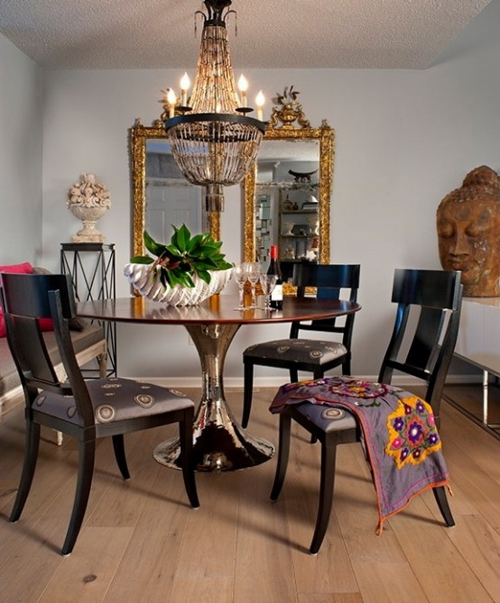 boho style dining room a real hit this summer. Black Bedroom Furniture Sets. Home Design Ideas