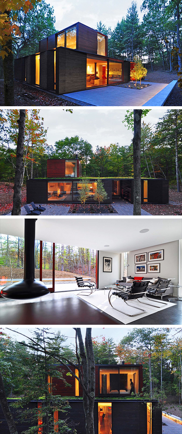 Pleated House by Johnsen Schmaling Architects in Wisconsin, USA