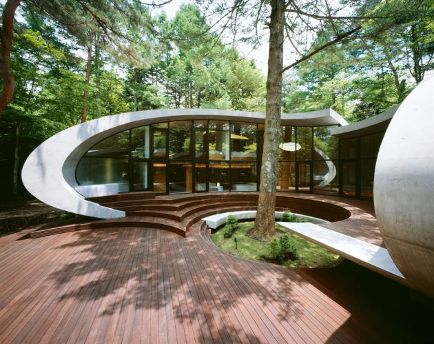Shell House by ARTechnic in the Karuizawa Forest, Japan