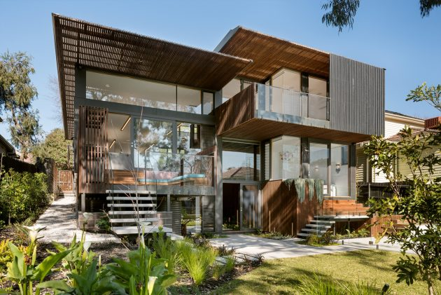 Trail house by zen architects in melbourne australia for Beach house designs melbourne