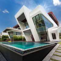 Villa Mistral by Mercurio Design Lab on the Island of Sentosa in Singapore