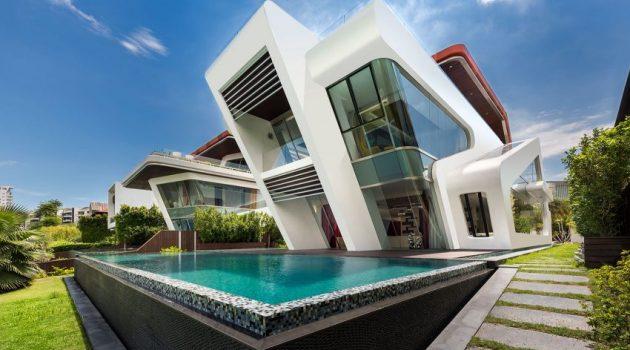 Villa Mistral by Mercurio Design Lab on the Island of Sentosa in Singapore
