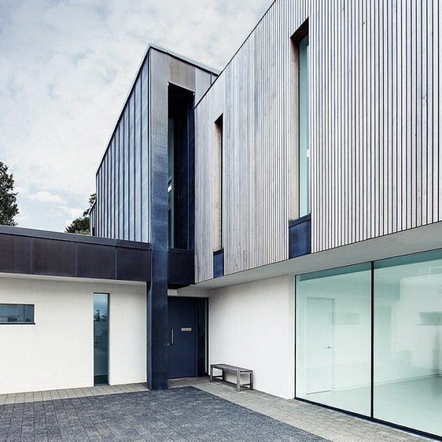 Zinc House by OB Architecture in Milford on Sea, England