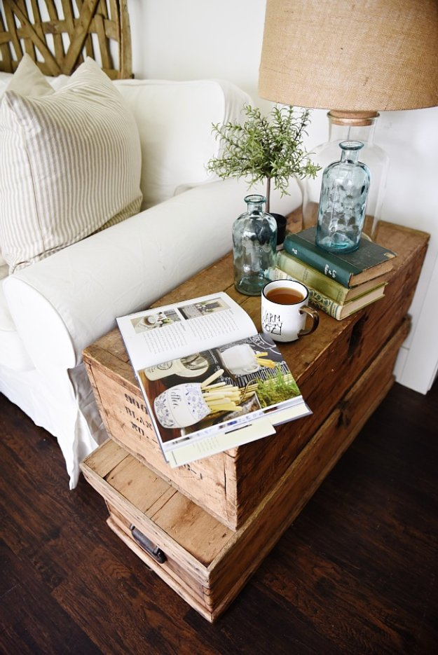 coffee table craft ideas 15 clever diy end table ideas that anyone can craft 3673