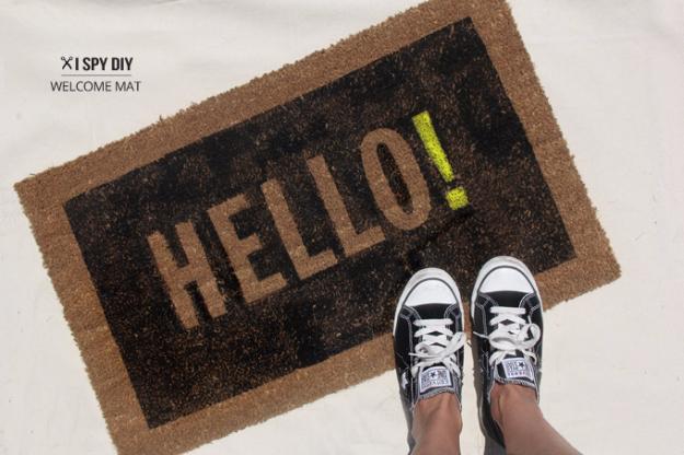 15 Creative DIY Welcome Mat Ideas That Can Send A Message