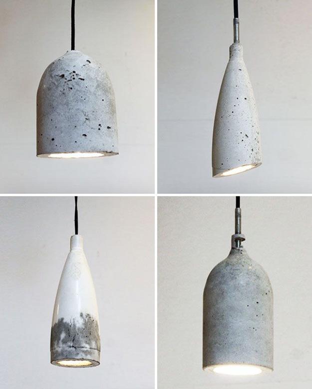 Concrete Shade Diy Pendant Lights