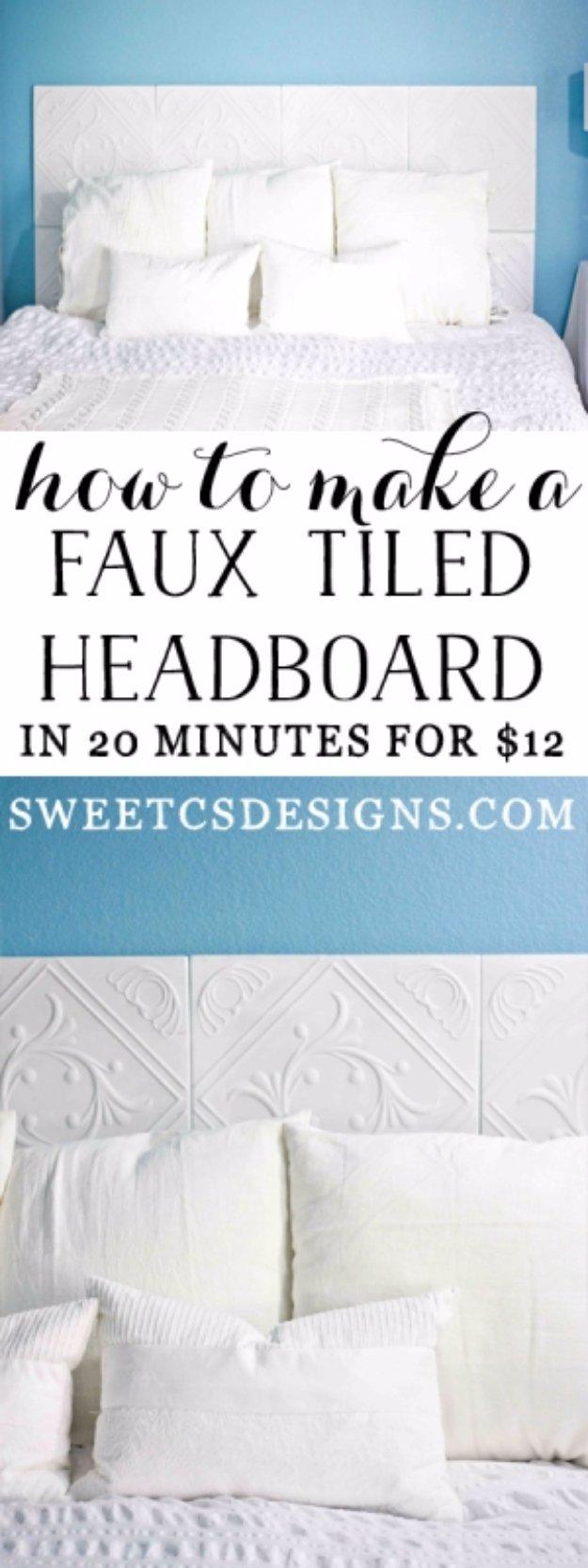 17 Beautiful DIY Headboard Designs Your Bedroom Needs