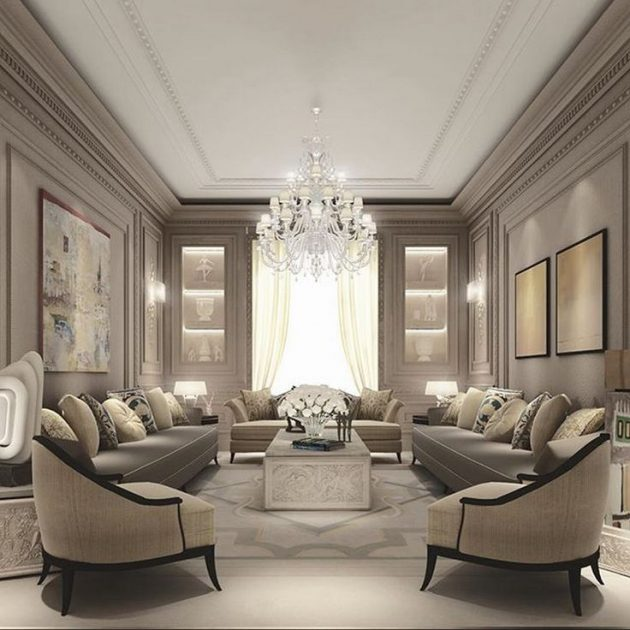 New Home Designs Latest Luxury Living Rooms Interior: Monochromatic Interior Design- Beautiful & Pleasant