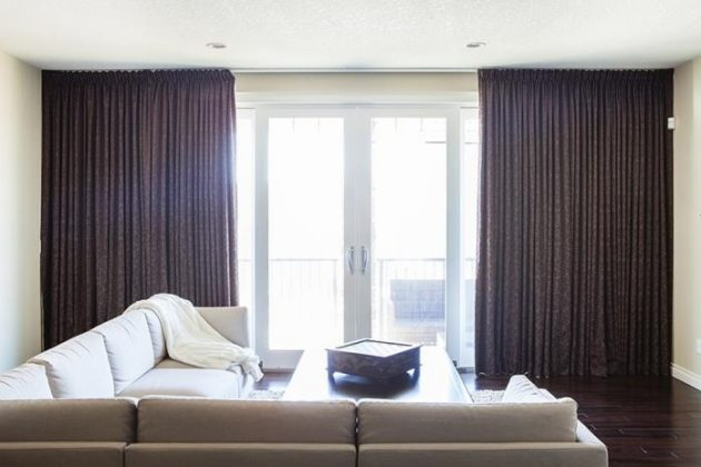 7 trendy window treatments that also conserve energy for Curtains floor to ceiling windows