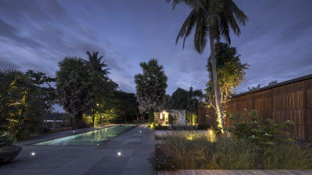 Flat Scape House by EKAR Architects in Bang Bai Mai, Thailand