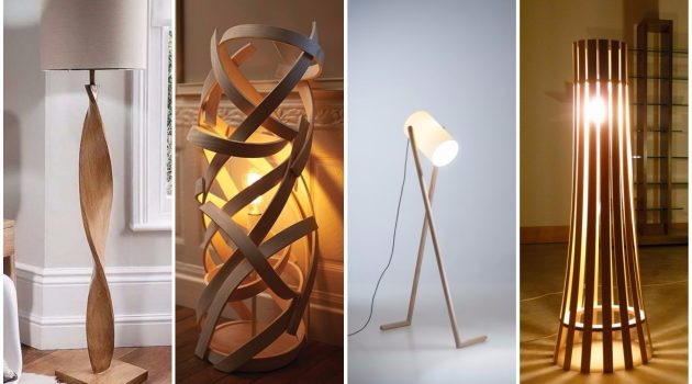 17 Delightful Wooden Floor Lamp Designs That Will Catch Your Eye