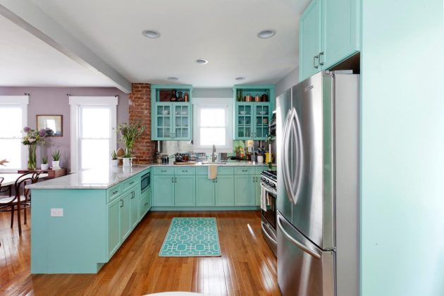 Blue In The Kitchen- 18 Ideas To Prove You That It Is The Right Choice