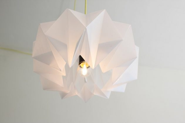 19 Most Creative Paper Lamps That You Can DIY For Less Than Hour