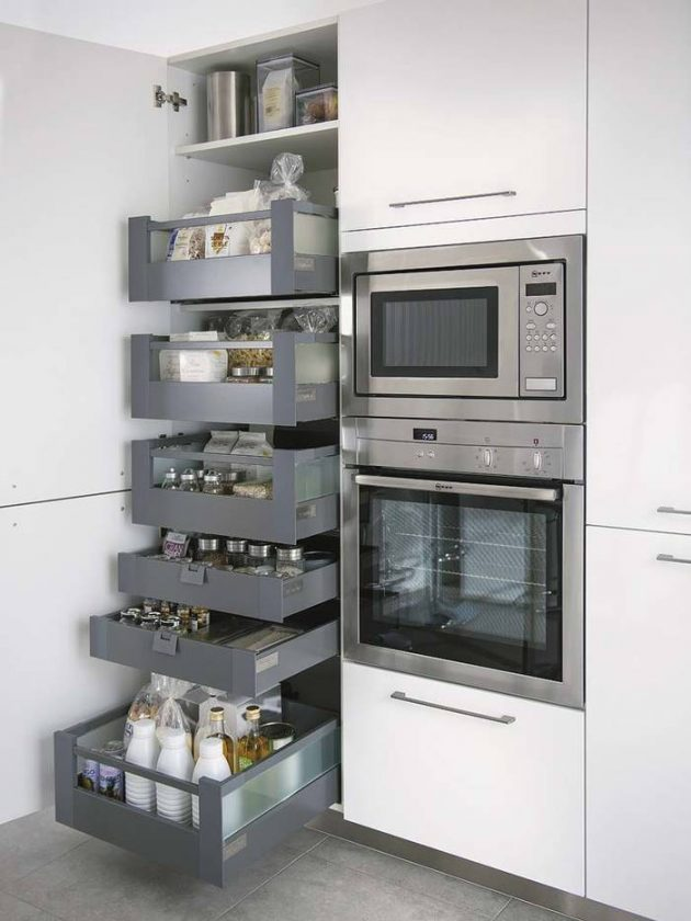 19 space saving kitchen elements for better utilization of the space - Archietechtural kitchen design space saving ...