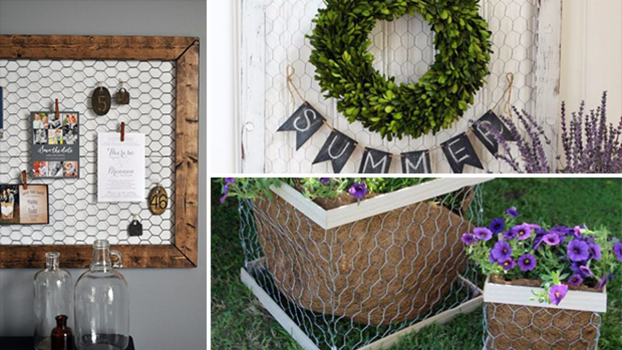 12 Clever DIY Chicken Wire Rustic Decor Ideas For Your Home