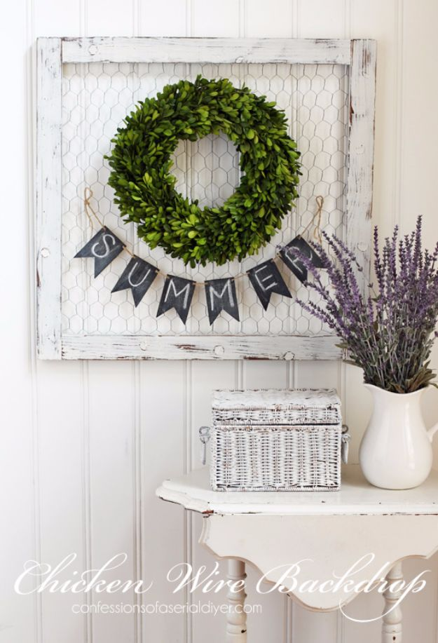 15 Clever Diy Chicken Wire Rustic Decor Ideas For Your Home