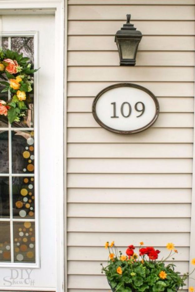 15 creative ways to display your house number with diy for House number frames