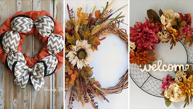 15 Homely Handmade Fall Wreath Designs For The Coming ...