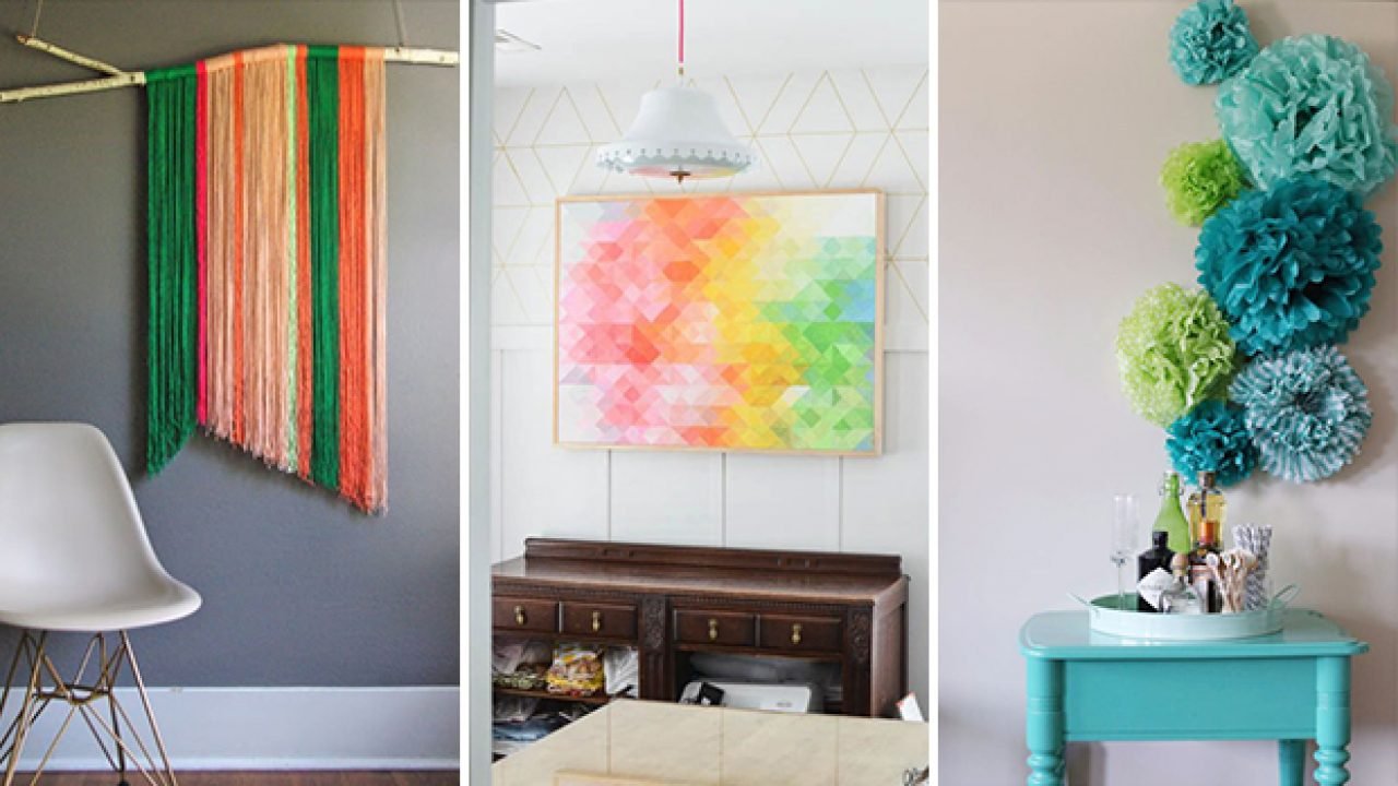 16 Super Creative DIY Wall Art Projects You Can Easily Craft