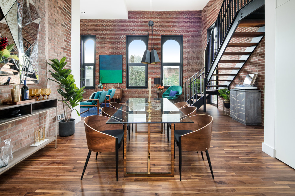 captivating stair living room dining | 17 Captivating Industrial Dining Room Designs You'll Go ...