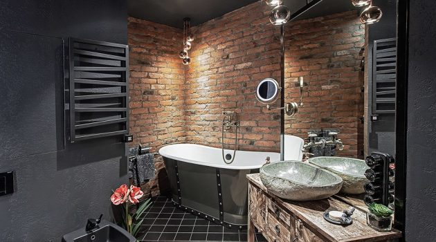 17 Stunning Industrial Bathroom Designs You'll Love