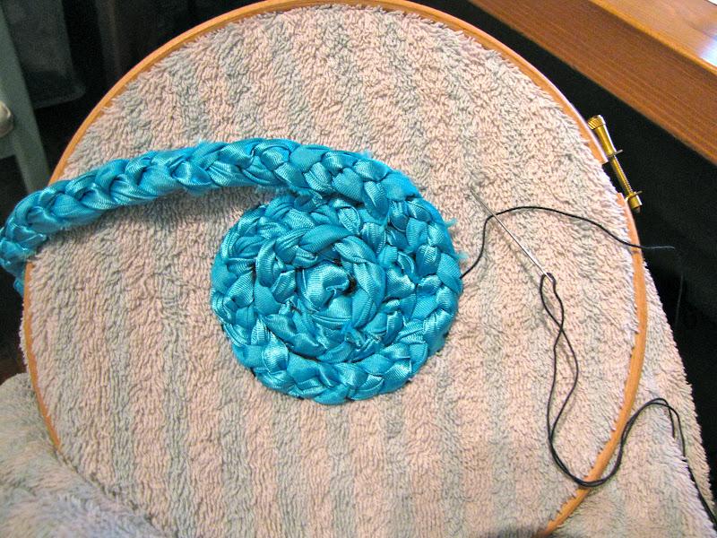 Плетение ковриков спицами 152
