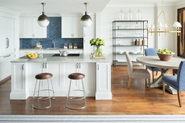 Blue In The Kitchen  18 Ideas To Prove You That It Is The Right Choice