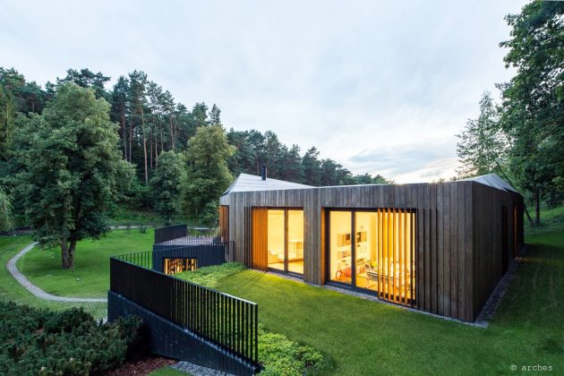 Modern Valley Villa by Arches in Vilnius, Lithuania