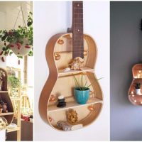Repurpose Your Unused Guitar Into Brilliant Wall Shelf